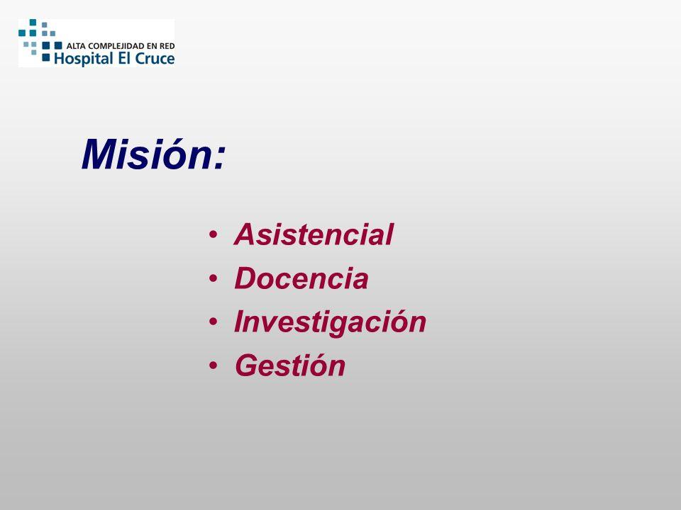 Misión: Asistencial Docencia Investigación Gestión