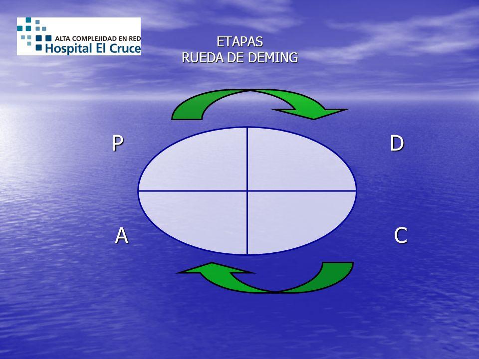 ETAPAS RUEDA DE DEMING P D P D A C A C