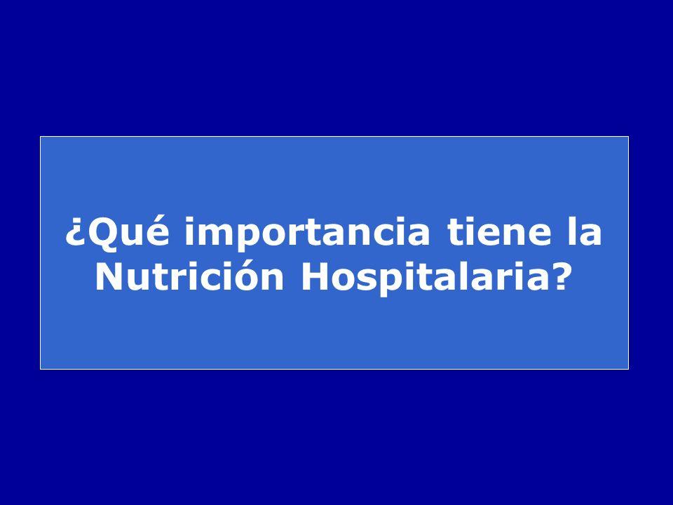 ¿Qué importancia tiene la Nutrición Hospitalaria?