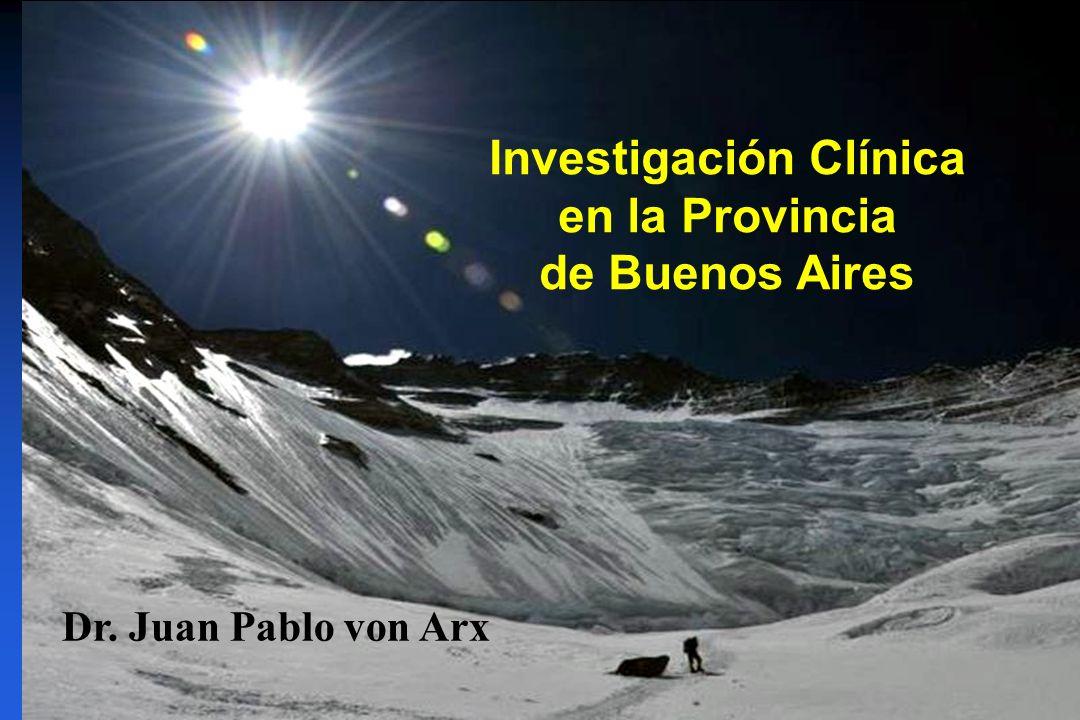 Investigación Clínica en la Provincia de Buenos Aires Dr. Juan Pablo von Arx