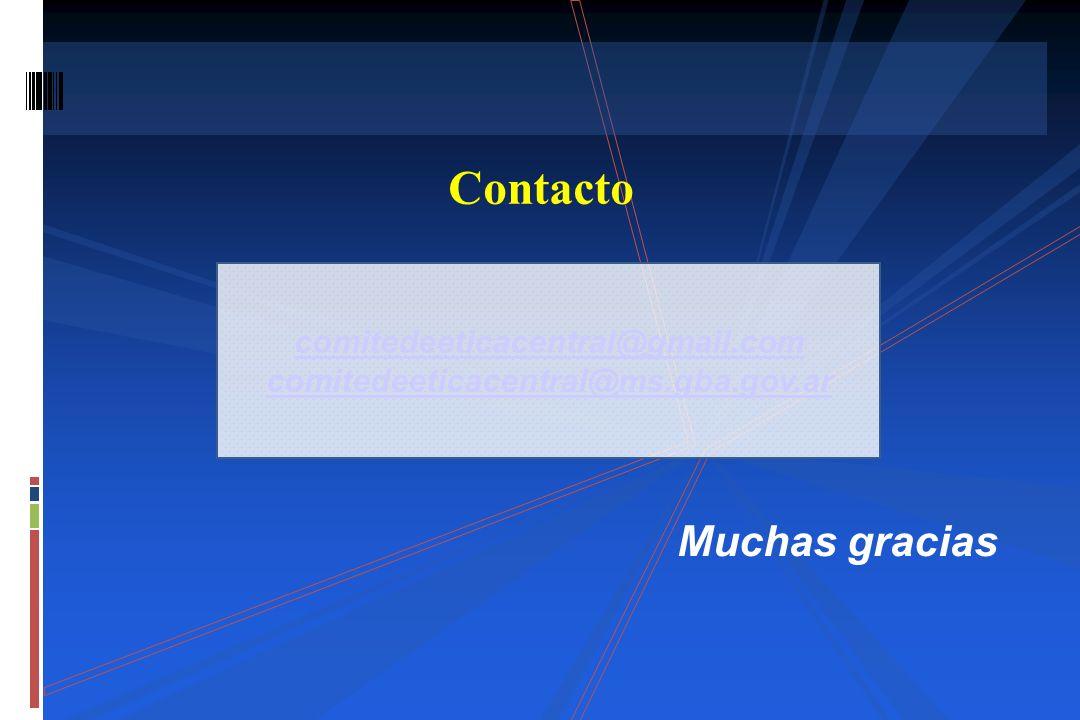 Contacto comitedeeticacentral@gmail.com comitedeeticacentral@ms.gba.gov.ar Muchas gracias