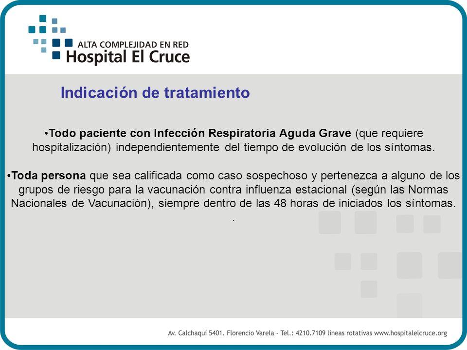 Todo paciente con Infección Respiratoria Aguda Grave (que requiere hospitalización) independientemente del tiempo de evolución de los síntomas. Toda p