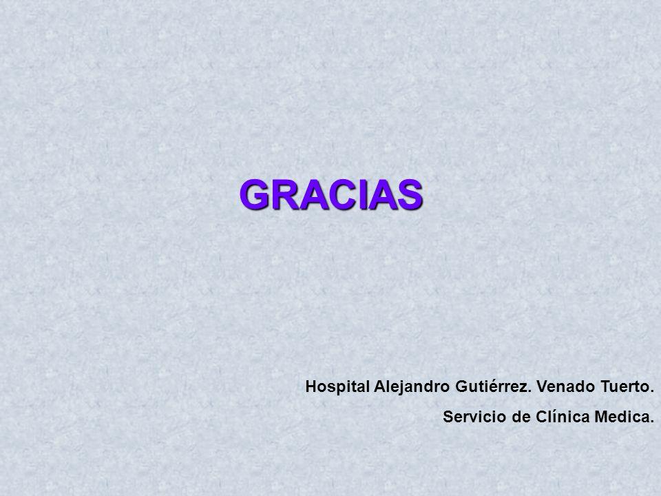 GRACIAS Hospital Alejandro Gutiérrez. Venado Tuerto. Servicio de Clínica Medica.