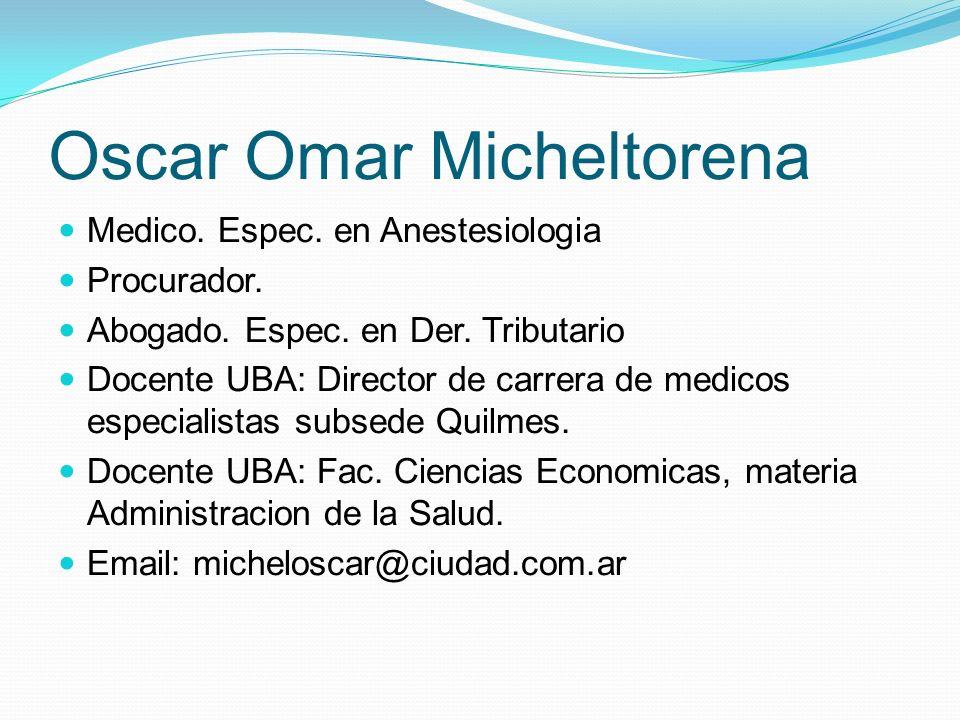 Medico.Espec. en Anestesiologia Procurador. Abogado.