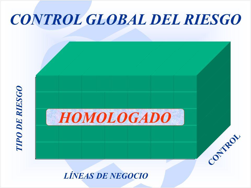 LÍNEAS DE NEGOCIO CONTROL TIPO DE RIESGO CONTROL GLOBAL DEL RIESGO HOMOLOGADO
