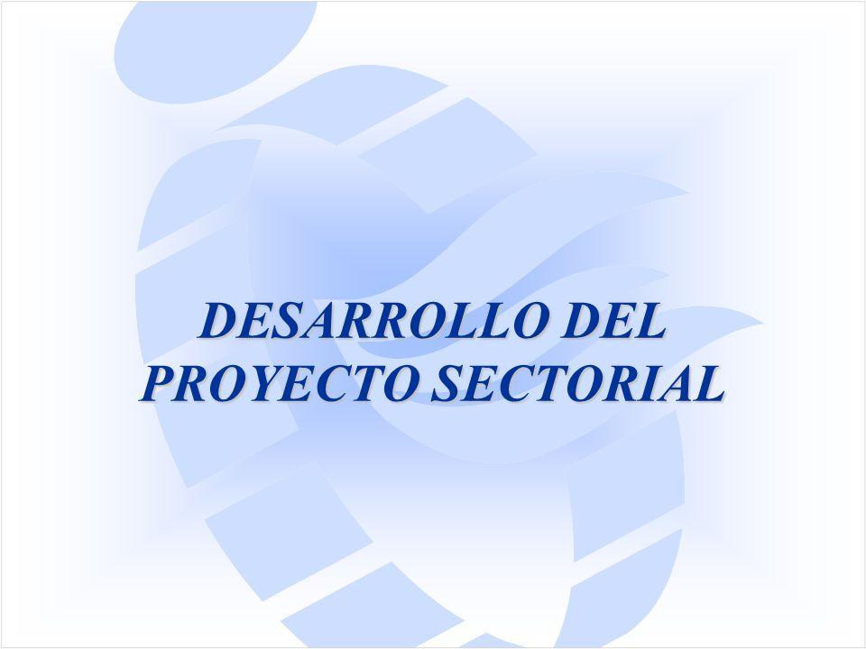 DESARROLLO DEL PROYECTO SECTORIAL