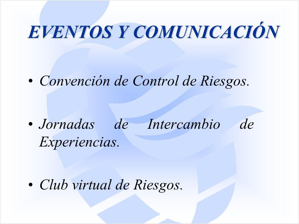 Convención de Control de Riesgos. Jornadas de Intercambio de Experiencias. Club virtual de Riesgos.
