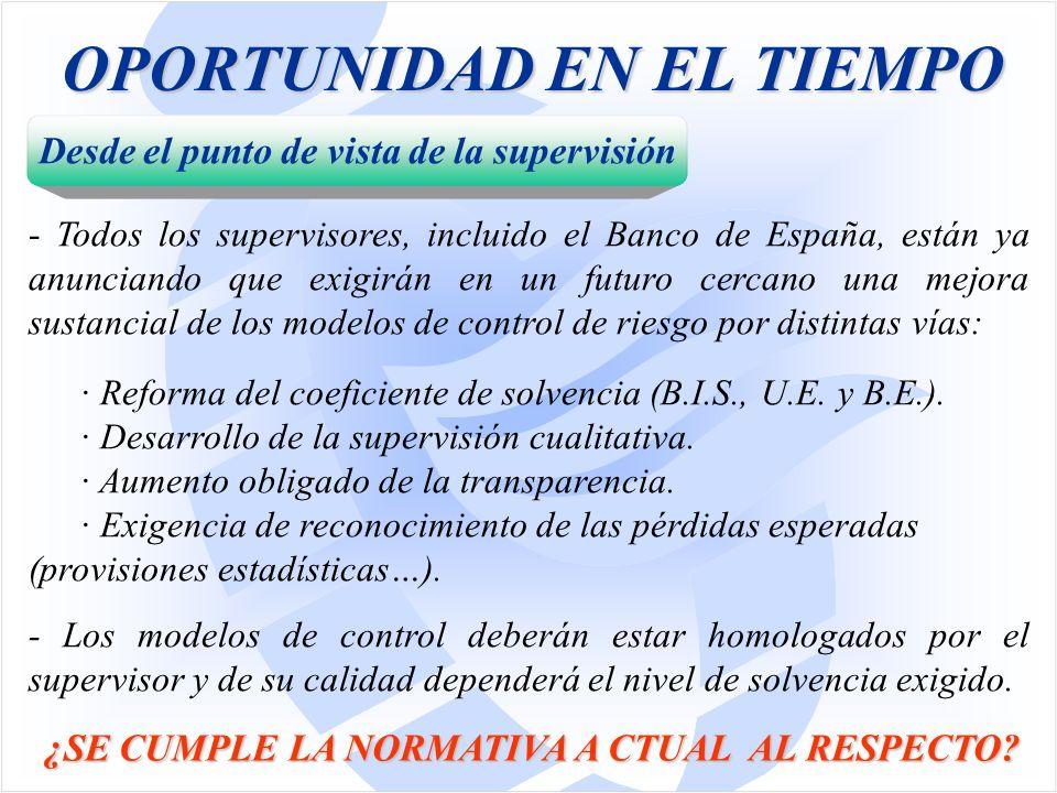 OPORTUNIDAD EN EL TIEMPO ¿SE CUMPLE LA NORMATIVA A CTUAL AL RESPECTO.