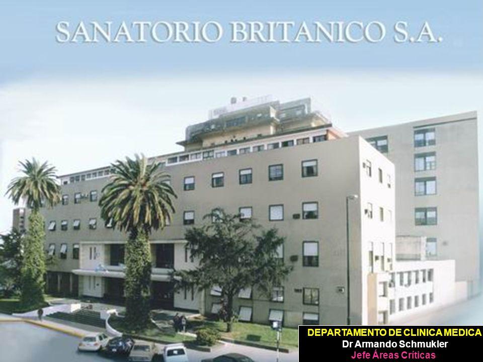DEPARTAMENTO DE CLINICA MEDICA Dr Armando Schmukler Jefe Áreas Críticas