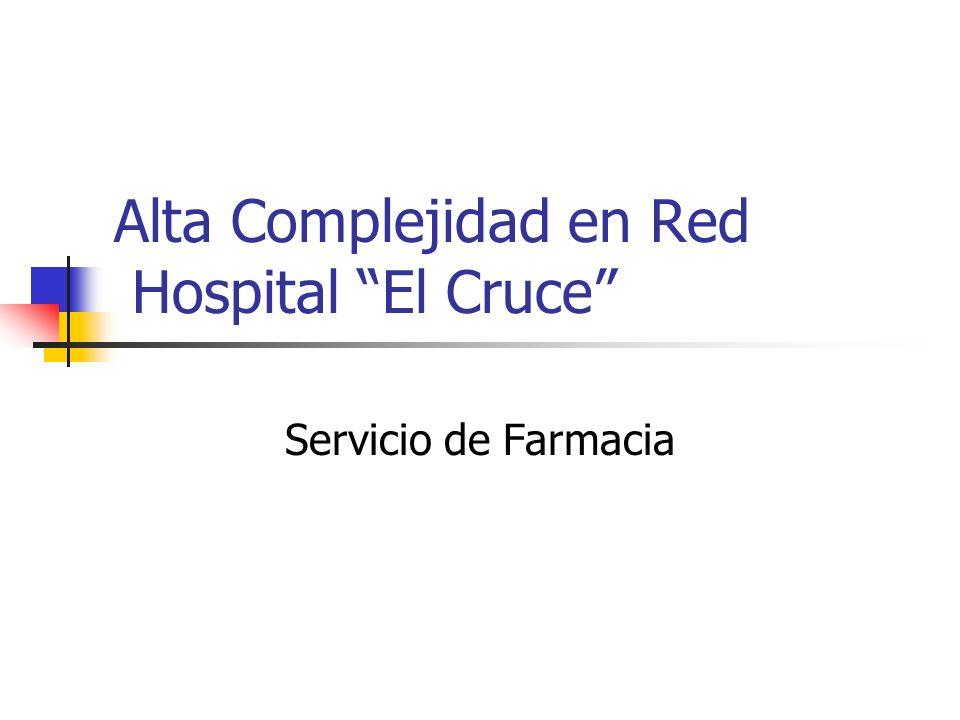 Alta Complejidad en Red Hospital El Cruce Servicio de Farmacia