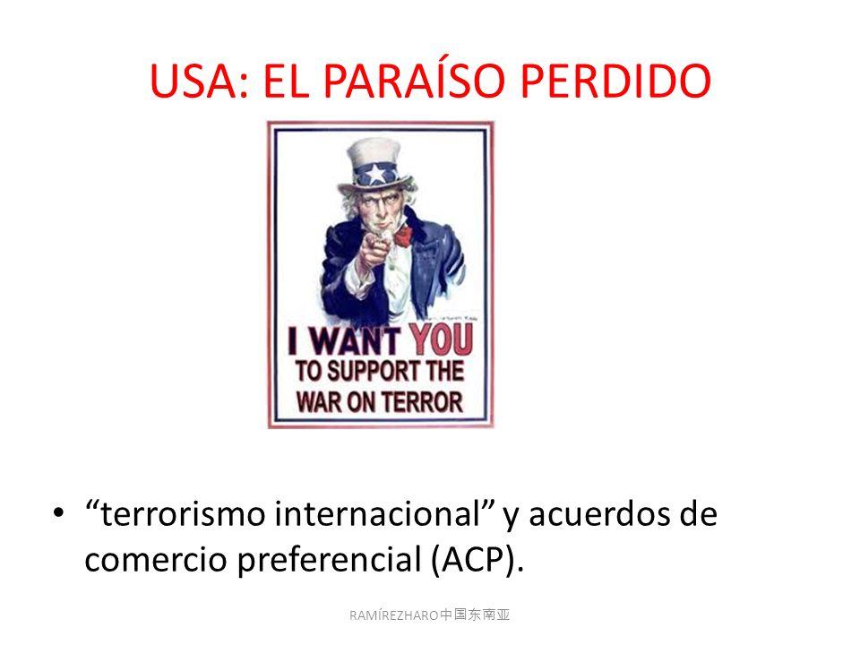 USA: EL PARAÍSO PERDIDO terrorismo internacional y acuerdos de comercio preferencial (ACP).