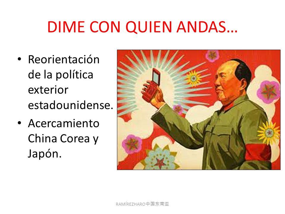 DIME CON QUIEN ANDAS… Reorientación de la política exterior estadounidense.