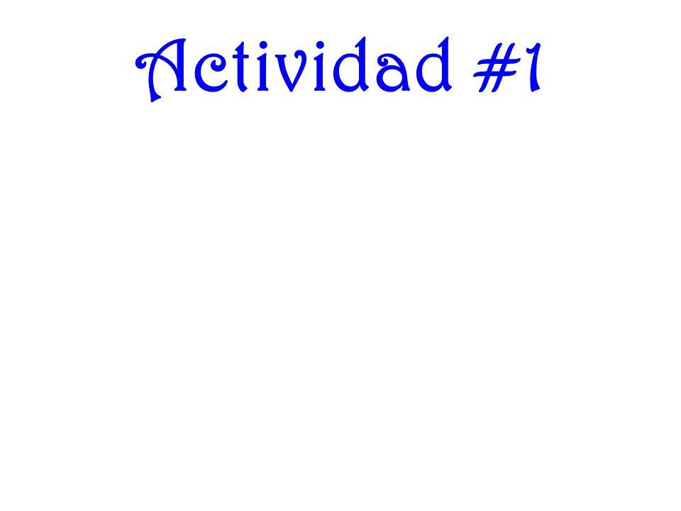 Actividad #1