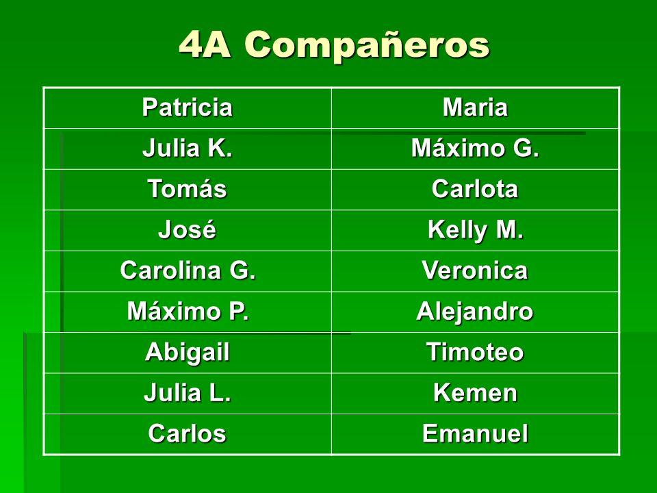 4A Compañeros PatriciaMaria Julia K. Máximo G. Tomás Carlota José Kelly M.