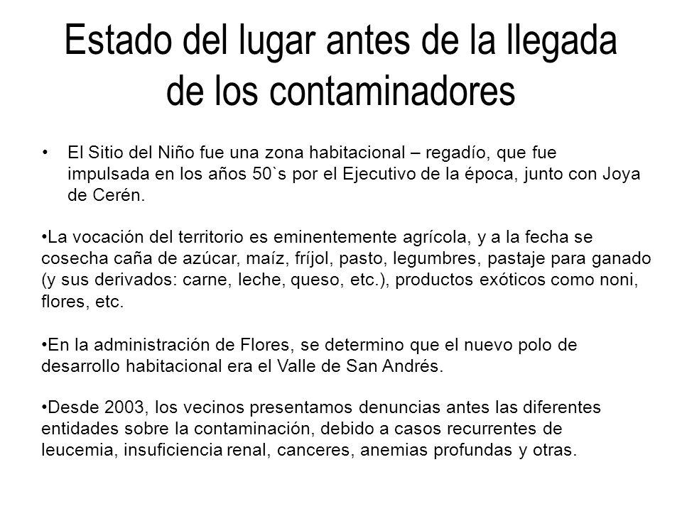La petición de los vecinos *CUMPLIMIENTO DE LAS LEYES AMBIENTALES, CONSTITUCION DE LA REPUBLICA Y TRATADOS INTERNACIONALES.