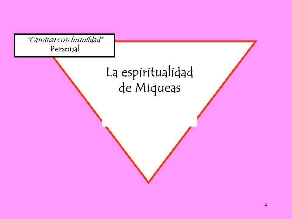 4 Caminar con humildad Personal La espiritualidad de Miqueas