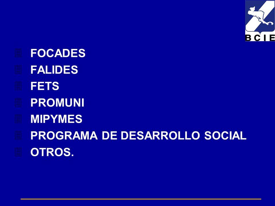 3FOCADES 3FALIDES 3FETS 3PROMUNI 3MIPYMES 3PROGRAMA DE DESARROLLO SOCIAL 3OTROS.