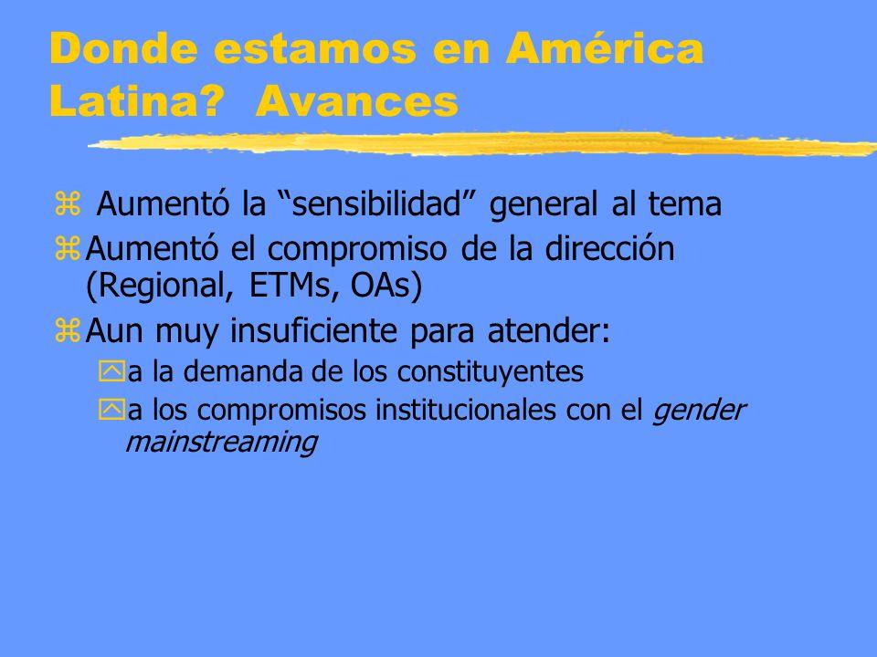Donde estamos en América Latina.
