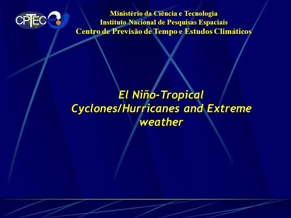 Ministério da Ciência e Tecnologia Instituto Nacional de Pesquisas Espaciais Centro de Previsão de Tempo e Estudos Climáticos El Niño-Tropical Cyclones/Hurricanes and Extreme weather