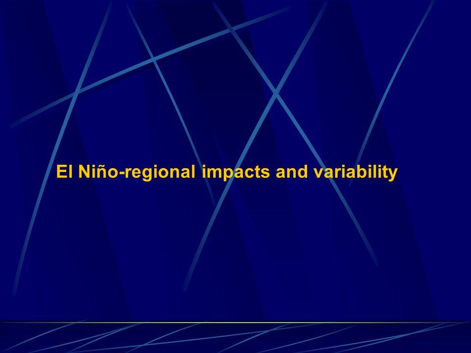 El Niño-regional impacts and variability