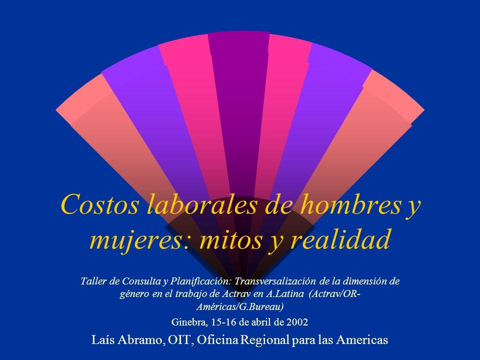Legislación: licencia maternidad w Argentina, Uruguay y México:12 semanas w Brasil:16 semanas w Chile:18 semanas w Convenio 183 OIT: mínimo 14 semanas