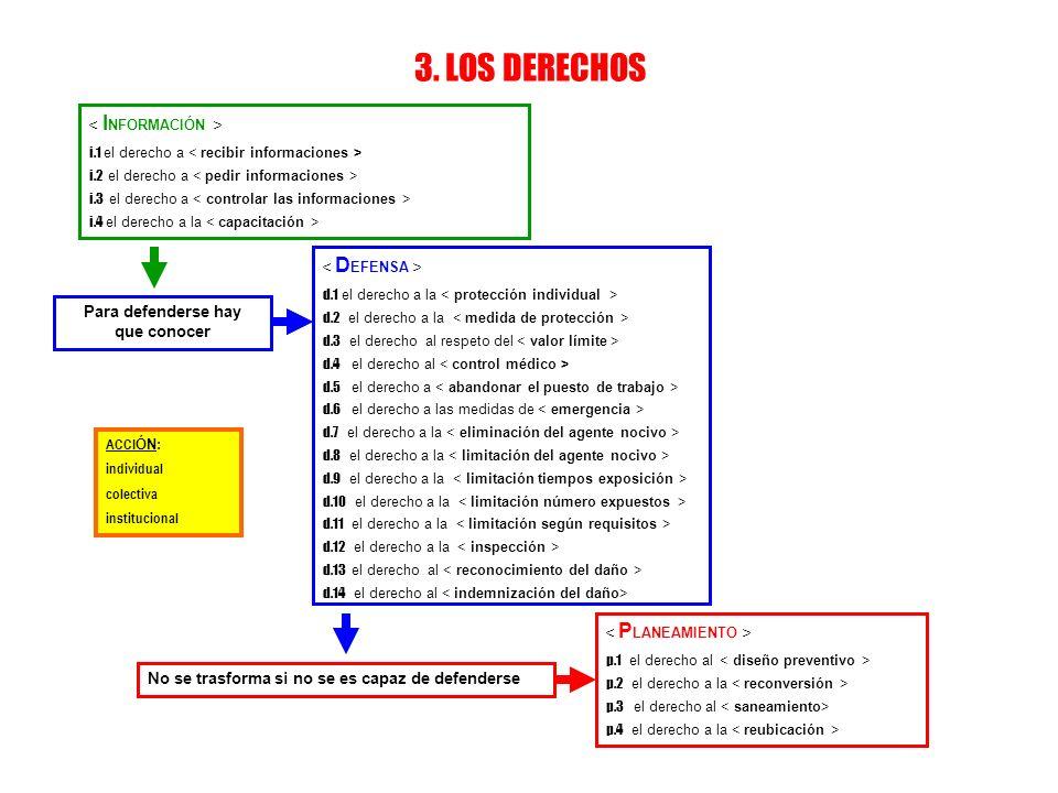 3. LOS DERECHOS i.1 el derecho a i.2 el derecho a i.3 el derecho a i.4 el derecho a la d.1 el derecho a la d.2 el derecho a la d.3 el derecho al respe