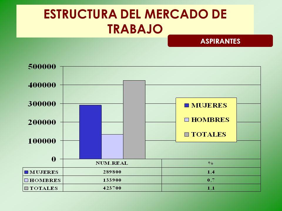 ESTRUCTURA DEL MERCADO DE TRABAJO ASPIRANTES
