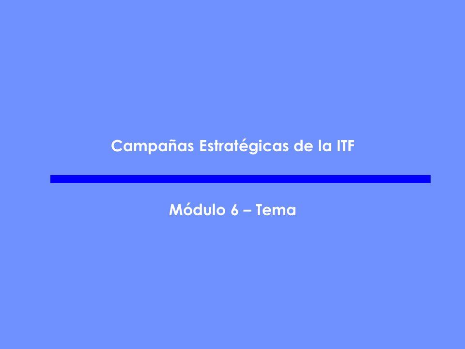 Campañas Estratégicas de la ITF Módulo 6 – Tema