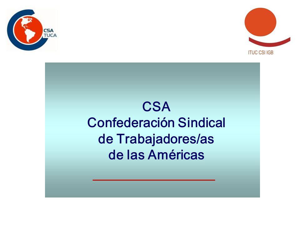 CSA Confederación Sindical de Trabajadores/as de las Américas