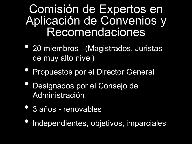 20 miembros - (Magistrados, Juristas de muy alto nivel) Propuestos por el Director General Designados por el Consejo de Administración 3 años - renova