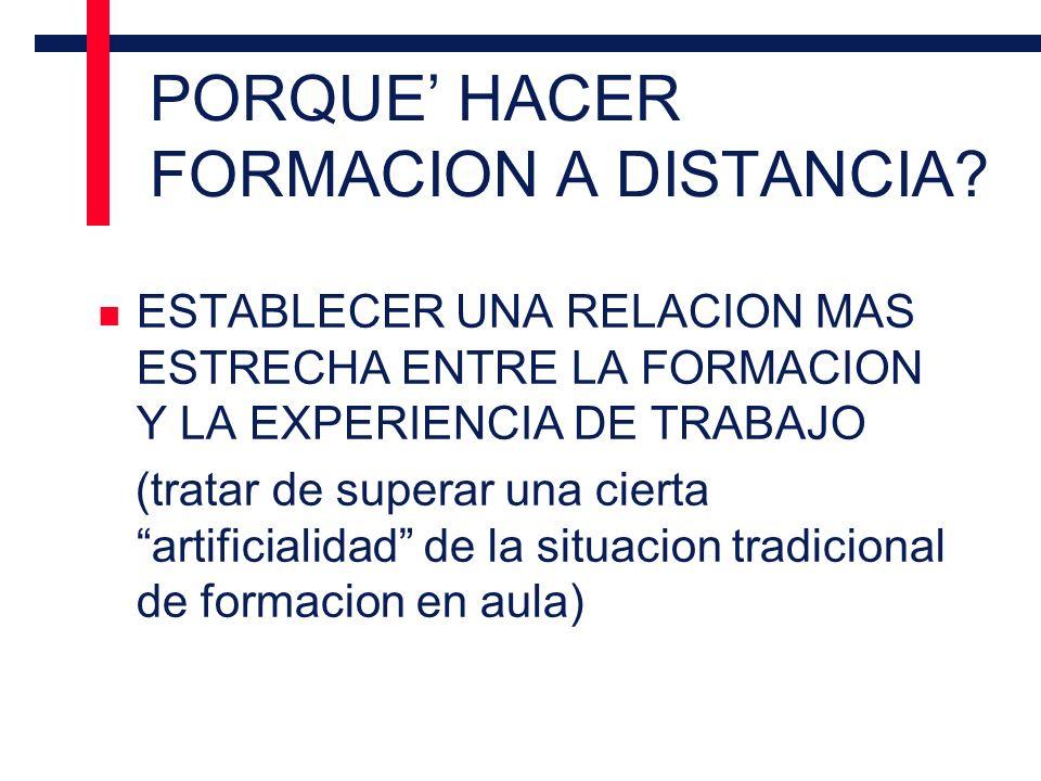 PORQUE HACER FORMACION A DISTANCIA.