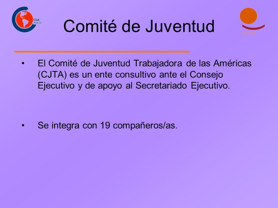 Comité de Juventud El Comité de Juventud Trabajadora de las Américas (CJTA) es un ente consultivo ante el Consejo Ejecutivo y de apoyo al Secretariado