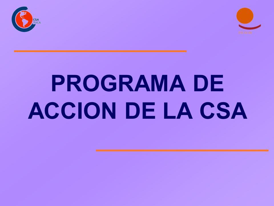 PROGRAMA DE ACCION DE LA CSA