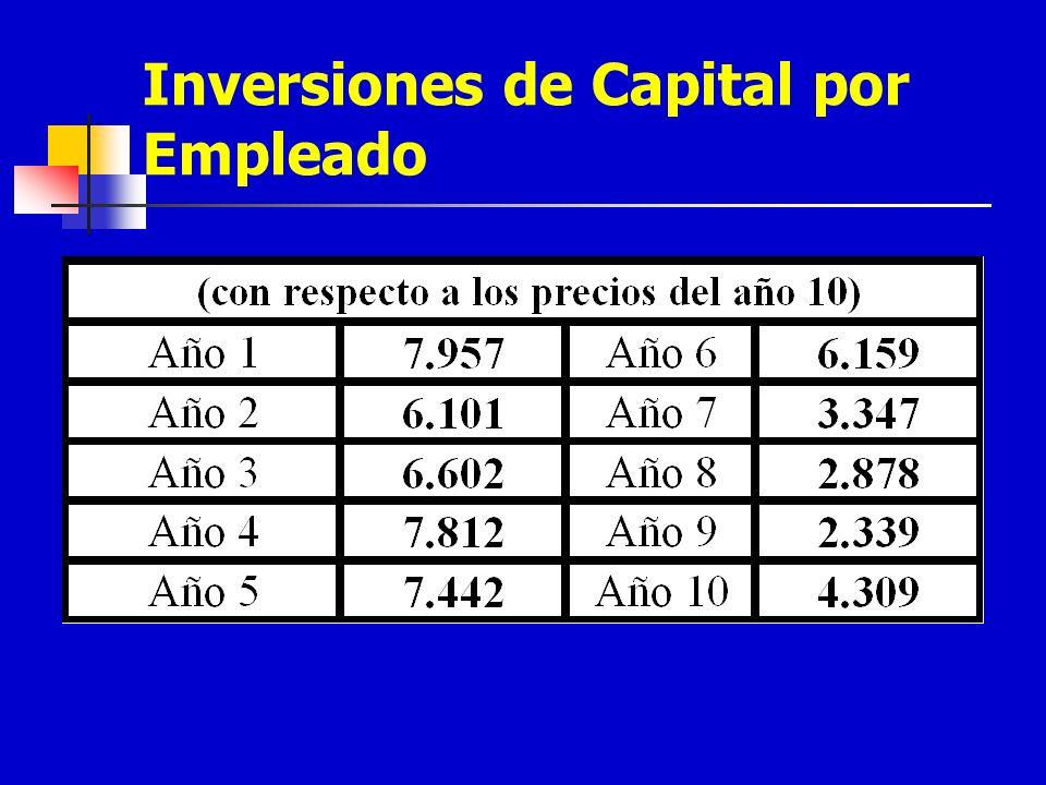 Inversiones de Capital por Empleado