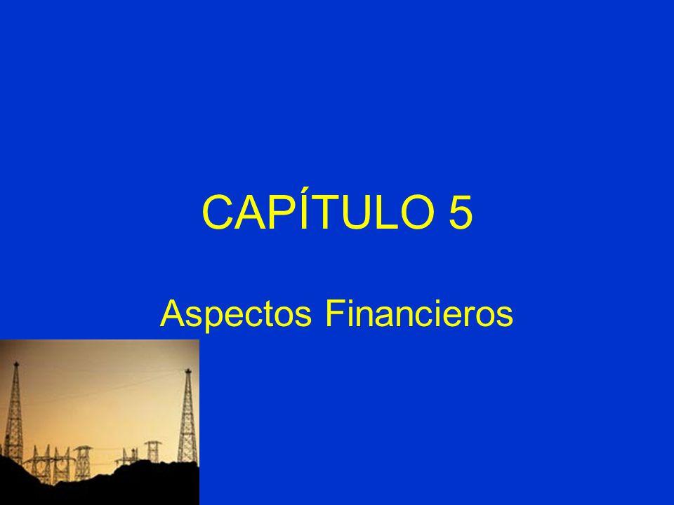 CAPÍTULO 5 Aspectos Financieros