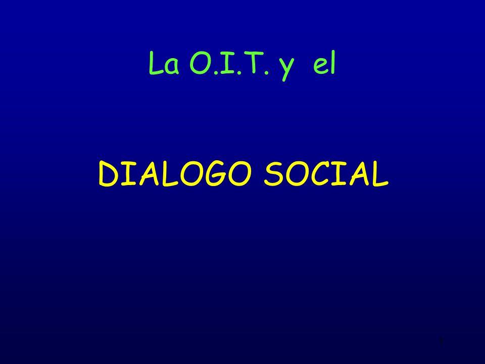1 La O.I.T. y el DIALOGO SOCIAL