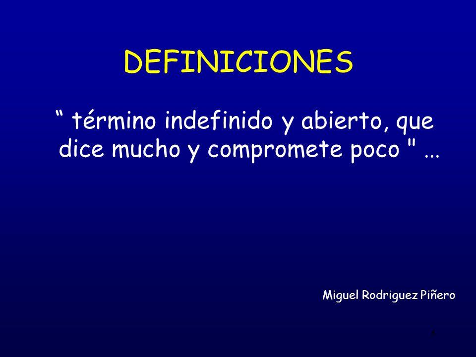 5 DEFINICIONES término indefinido y abierto, que dice mucho y compromete poco ...