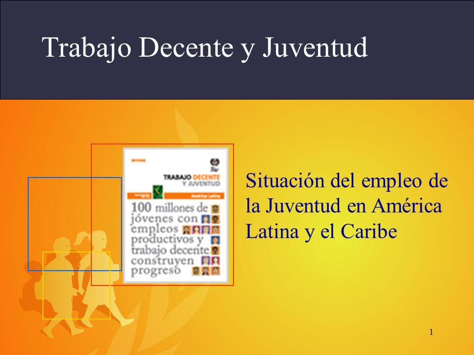 1 Trabajo Decente y Juventud Situación del empleo de la Juventud en América Latina y el Caribe