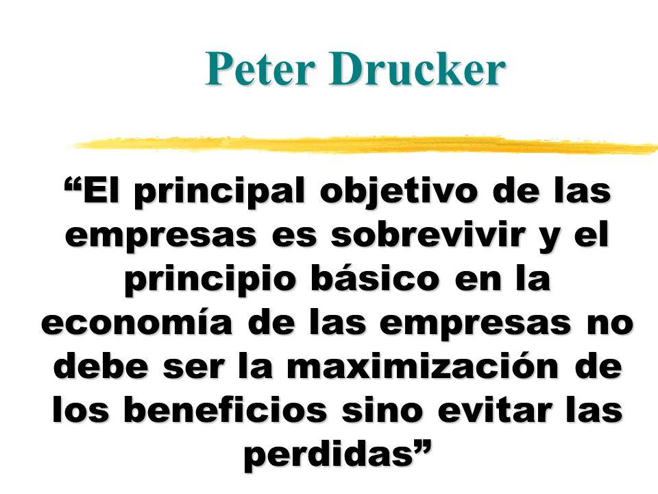 El principal objetivo de las empresas es sobrevivir y el principio básico en la economía de las empresas no debe ser la maximización de los beneficios