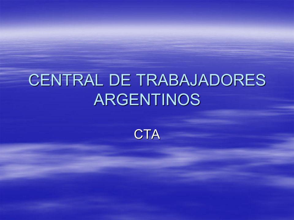 CENTRAL DE TRABAJADORES ARGENTINOS CTA