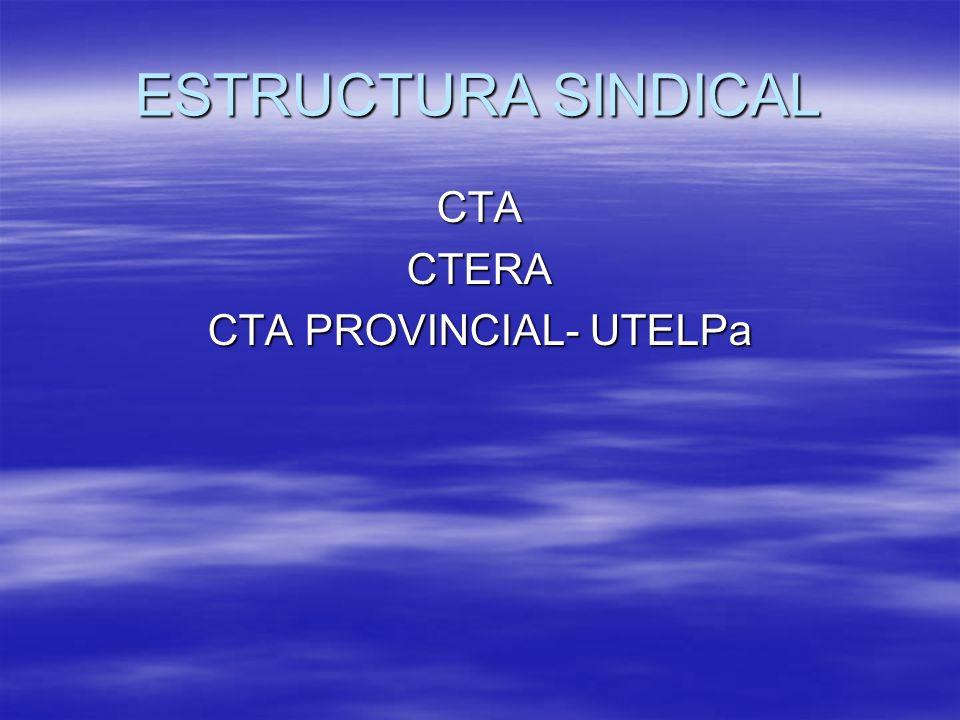ESTRUCTURA SINDICAL CTACTERA CTA PROVINCIAL- UTELPa