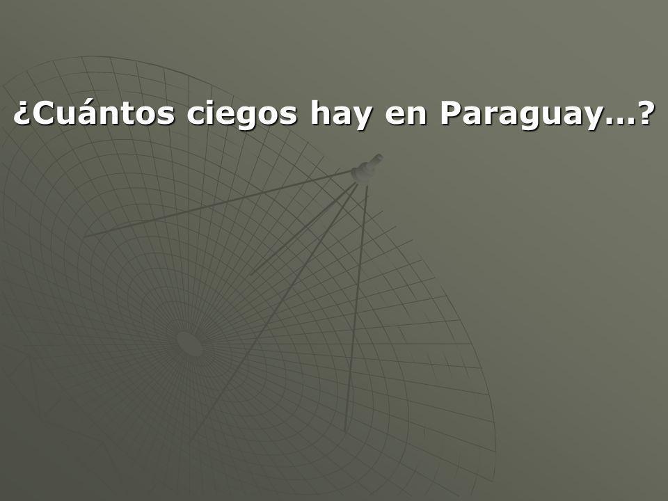 ¿Cuántos ciegos hay en Paraguay…?