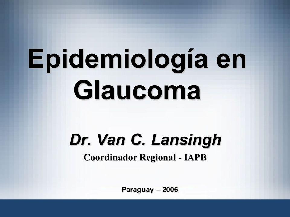 Epidemiología en Glaucoma Dr. Van C. Lansingh Coordinador Regional - IAPB Paraguay – 2006