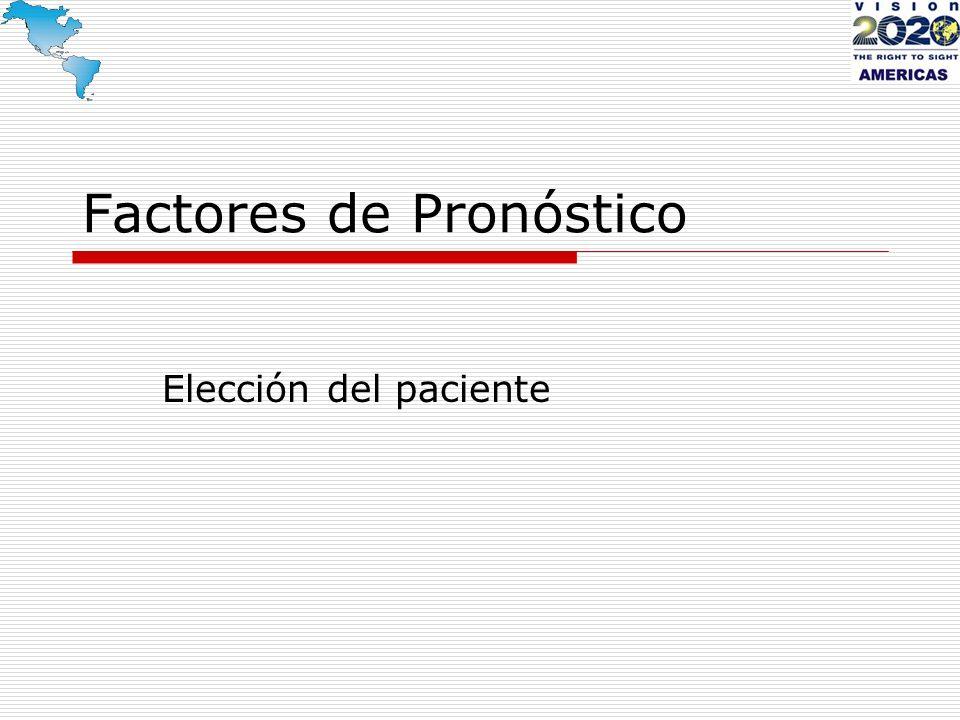Factores de Pronóstico Elección del paciente