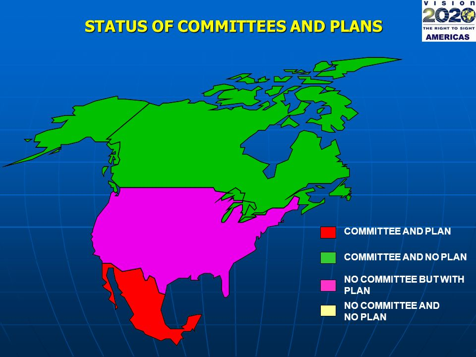 STATUS OF COMMITTEES AND PLANS COMMITTEE AND PLAN NO COMMITTEE AND NO PLAN COMMITTEE AND NO PLAN NO COMMITTEE BUT WITH PLAN