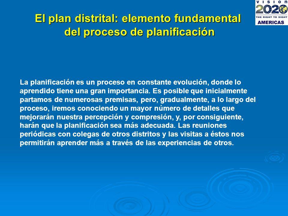 El plan distrital: elemento fundamental del proceso de planificación La planificación es un proceso en constante evolución, donde lo aprendido tiene una gran importancia.