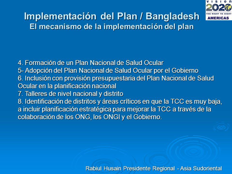 Implementación del Plan / Bangladesh El mecanismo de la implementación del plan 4.