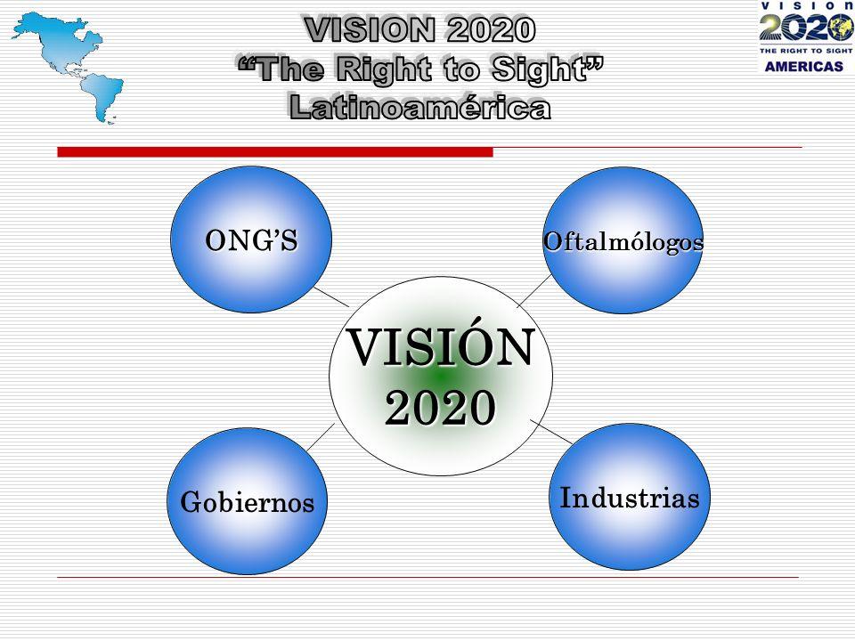 VISIÓN2020 ONGS Industrias Gobiernos Oftalmólogos
