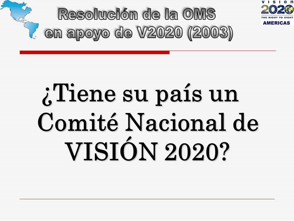 ¿Tiene su país un Comité Nacional de VISIÓN 2020