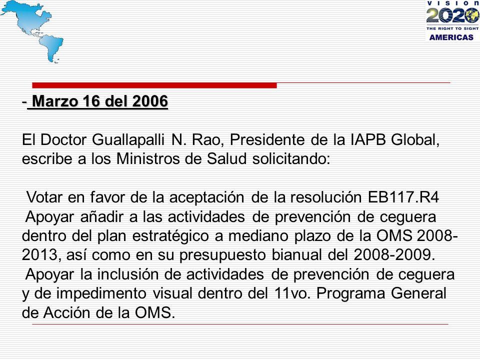 - Marzo 16 del 2006 - Marzo 16 del 2006 El Doctor Guallapalli N.